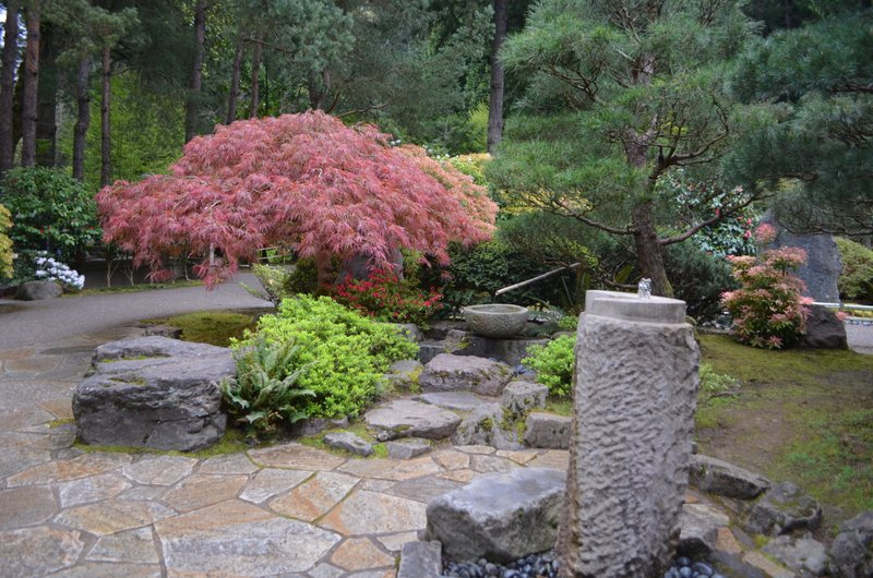 Japanese gardens dual fountains all who wander are not lost for Garden fountains portland oregon