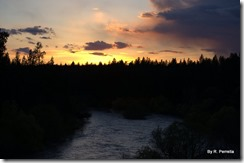 Last sunset on the Spokane