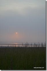 Foggy Sunset at cousins beach house