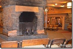 Lower lodge fireplace