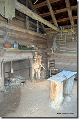 Inside older slave quarters