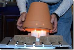flower pot radiant heater