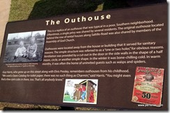 The outhouse plaque