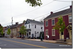 Homes on Main St in Lititz PA