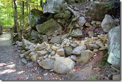 A Cairn along the boulder path