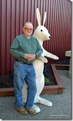 John and the 6 foot rabbit