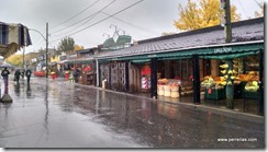 Rainy day at the market