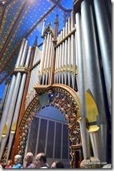Up close organ pipes