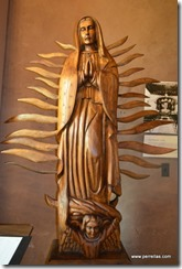 Our Lady of Guadalupe wood carving