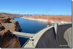 The dam at Glen Canyon