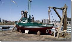 Vintage wooden fishing boat