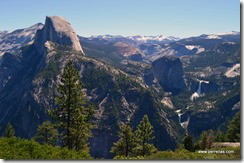 Nevada and Vernal Falls From Glacier Point