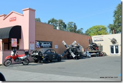 Motorcycle shop in St Helena