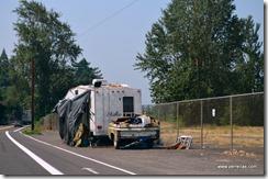 brokendown trailer